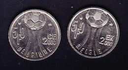 BELGIQUE MORIN 991/2 50fr AII, EURO 2000 FOOTBALL. (4PM27) - 05. 50 Francos