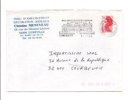 FLAMME DE LUNEVILLE MEURTHE ET MOSELLE 1990 - Storia Postale