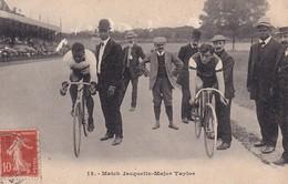 CYCLISME  Match Jacquelin - Major Taylor - Cyclisme