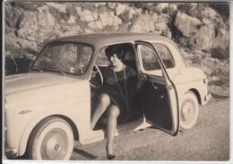 AUTO CAR VOITURE FIAT 1100 - FOTO ORIGINALE LA SPEZIA 1962 - Automobiles