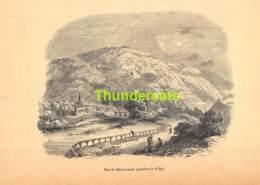 ANCIENNE COUPURE GRAVURE D'UN PUBLICATION DE 1844 OUD KNIPSEL UIT OUDE PUBLICATIE  CHEVREMONT VERMORCKEN STROOBANT - Estampes & Gravures