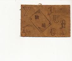 Leather Card Playing Card Rebus Carte Cuir Voyagé Richmond Virginia USA 1906 Carte A Jouer - Cartoline