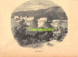 ANCIENNE COUPURE GRAVURE D'UN PUBLICATION DE 1844 OUD KNIPSEL UIT OUDE PUBLICATIE BROWN LATER BOUILLON - Estampes & Gravures