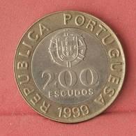 PORTUGAL 200 ESCUDOS 1999 -    KM# 655 - (Nº10879) - Portugal