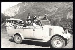 CPA-PHOTO VERITABLE ANCIENNE FRANCE- AUTOMOBILE- AUTOCAR SH DE LOURDES PLEIN- TRES GROS PLAN- - Bus & Autocars