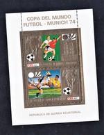 GUINEA EQUATORIAL. OVERPRINT. FOOTBALL. WORLD CUP 1974. MNH. - Copa Mundial