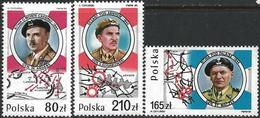 Poland 1989 Scott 2906-2907A MNH Battles, Generals, Map - 1944-.... Repubblica