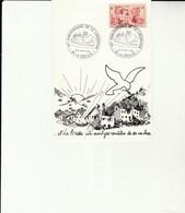 L 2 - Carte  Avec Cachet  Libération  LA BRESSE - 88 -  Colombe - Postmark Collection (Covers)