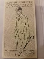 ANCIENNE CARTE PARFUMEE PIVERLORD - Perfume Cards