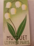 ANCIENNE CARTE PARFUMEE PIVER MUGUET - Antiguas (hasta 1960)