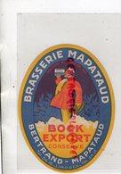 87- LIMOGES- ETIQUETTE BIERE BRASSERIE BERTRAND MAPATAUD - BOCK EXPORT CONSERVE - Bière