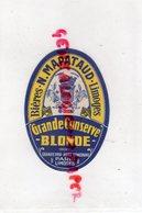 87- LIMOGES- ETIQUETTE BIERE BRASSERIE NARCISSE MAPATAUD -GRANDE CONSERVE BLONDE -GRAND PRIX PARIS - Bière