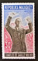 GENERAL DE GAULLE 1971 - NEUF ** - YT 189 - MI 635 - Madagascar (1960-...)
