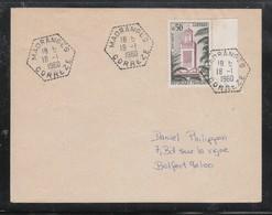 Frankreich 1960, Brief Mit MiNr. 1286, Kaktus / France 1960, Cover With MiNr. 1286, Cactus - Sukkulenten