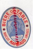 87- LIMOGES- ETIQUETTE BIERE BRASSERIE NARCISSE MAPATAUD - BIERE DE TABLE LE BARBICHET - Bière