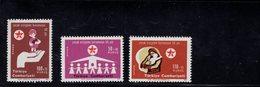690249406 TURKEY 1971  POSTFRIS MINT NEVER HINGED POSTFRISCH EINWANDFREI SCOTT B137 B139 CHILDRENS PROTECTION - 1921-... République