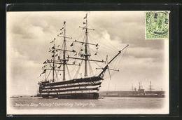 AK Nelson`s Ship Victory, Celebrating Trafalgar Day, Segelschiff Victory - Velieri