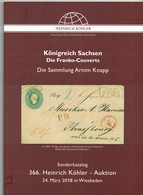 Königreich Sachsen - Die Franko-Couverts (Heinrich Köhler) - Catalogues For Auction Houses