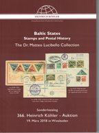 Baltic States - Stamps And Postal History (Heinrich Köhler) - Catalogues De Maisons De Vente