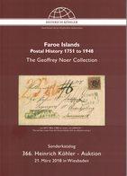Faroe Island - Postal History 1751 To 1948 (Heinrich Köhler) - Catalogues De Maisons De Vente