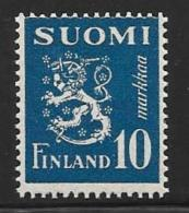 Finland, Scott # 176I MNH Lion Arms, 1945 - Finland
