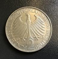 "GERMANIA - DEUTSCHLAND - 1962 - 2 MARCHI  "" F "" Max Planck - [ 7] 1949-… : RFA - Rep. Fed. Tedesca"