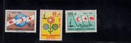 690257242 TURKEY 1963  POSTFRIS MINT NEVER HINGED POSTFRISCH EINWANDFREI SCOTT B95 B97 CENTENARY INTERNATIONAL RED CROSS - 1921-... République