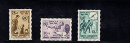 690257629 TURKEY 1961  POSTFRIS MINT NEVER HINGED POSTFRISCH EINWANDFREI SCOTT B85 B87 UNICEF ANTI MALARIA WORK - 1921-... République