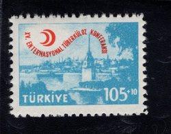 690258298 TURKEY 1959  POSTFRIS MINT NEVER HINGED POSTFRISCH EINWANDFREI SCOTT B74 INTERNATIONAL TUBERCULOSIS CONGRESS - 1921-... République