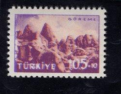 690258652 TURKEY 1959  POSTFRIS MINT NEVER HINGED POSTFRISCH EINWANDFREI SCOTT B73 RUINS GOREME TOURIST PUBLICITY - 1921-... République