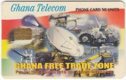 GHANA A-075 Chip Telecom - Communication, Satellite Dish - Used - Ghana