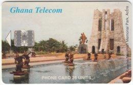 GHANA A-076 Chip Telecom - View, Monument - Used - Ghana