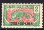 Oubangui N° 26  XX 2 C. Vert Et Rose, Sans Charnière TB - Unused Stamps