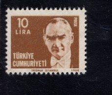 690260116 TURKEY 1980  POSTFRIS MINT NEVER HINGED POSTFRISCH EINWANDFREI SCOTT 2137A KEMAL ATATURK - 1921-... République