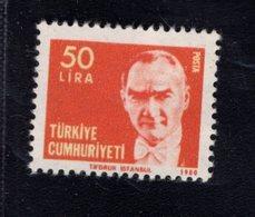 690260716 TURKEY 1980  POSTFRIS MINT NEVER HINGED POSTFRISCH EINWANDFREI SCOTT 2139 KEMAL ATATURK - 1921-... République