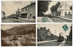44CP( SNCF Pont De V+ La Roche En B+Chambly+Chézery)Fête Victoire+Aviation+Marché+Milit+Manade+Cyclone+Pub+Brodée.. N°98 - Cartes Postales