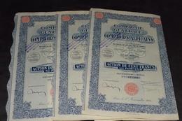 3 X 100 Frs Compagnie Générale Des Comptoirs Africains 20 000 000 Frs 1926 - Afrique