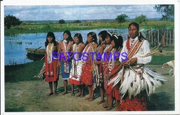 105649 PARAGUAY COSTUMES NATIVE INDIOS MACAES CHACO POSTAL POSTCARD - Paraguay