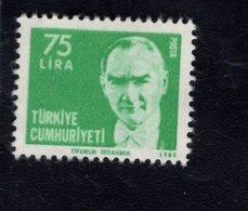 690261367 TURKEY 1980  POSTFRIS MINT NEVER HINGED POSTFRISCH EINWANDFREI SCOTT 2140 KEMAL ATATURK - 1921-... République