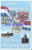 105653 PARAGUAY ASUNCION FUNDACION CENTENARIO MULTI VIEW HERALDRY & FLAG POSTAL POSTCARD - Paraguay