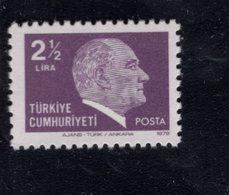 690262885 TURKEY 1979 1981  POSTFRIS MINT NEVER HINGED POSTFRISCH EINWANDFREI SCOTT 2129 KEMAL ATATURK - 1921-... République