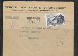 LOT 1812143 - N° 764 SUR LETTRE RECOMMANDEE DE HOMECOURT DU 26/01/48 POUR METZ - 1921-1960: Modern Period