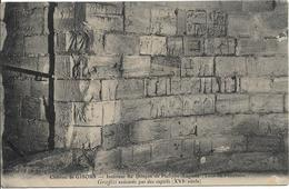 D27 - GISORS - CHATEAU DE GISORS - INTERIEUR DU DONJON DE PHILIPPE AUGUSTE (TOUR DU PRISONNIER) GRAFFITI - Gisors