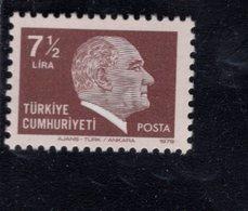 690263950 TURKEY 1979 1981  POSTFRIS MINT NEVER HINGED POSTFRISCH EINWANDFREI SCOTT 2133 KEMAL ATATURK - 1921-... République