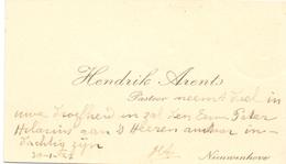 Visitekaartje - Carte Visite - Pastoor Hendrik Arents - Nieuwenhove - Cartes De Visite