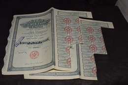 2 X 100 Frs Nouvelle Compagnie Française De Kong 25 000 000 Frs 1927 - Afrique