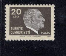 690264577 TURKEY 1979 1981  POSTFRIS MINT NEVER HINGED POSTFRISCH EINWANDFREI SCOTT 2136 KEMAL ATATURK - 1921-... République