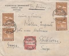 Chili Lettre Pour La Suisse 1949 - Chile