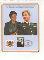 Un Hommage Particulier Au Couple Princier - Een Bijzondere Hulde Aan Het Prinselijk Paar. 29/11/1999. - Souvenir Cards