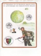 50 E Anniversaire Des Parachutistes Belges - 50 E Verjaardag Van De Belgische Parachutisten. 9/5/1992. - Souvenir Cards